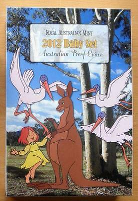 AUSTRALIAN 2012 BABY PROOF COIN SET- 6 COINS IN DOT AND THE KANGAROO BOX-IP $120