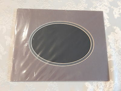 Oval 8x10 Double Crescent mat for 5 x7  photo or art work (8x10DM MGR/DGR)