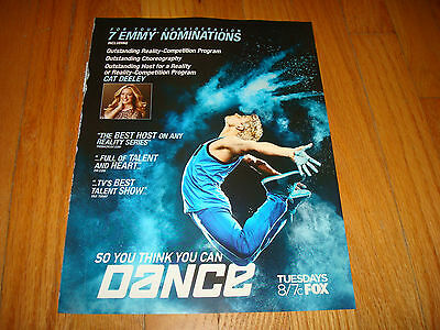 SO YOU THINK YOU CAN DANCE? 2013 Emmy ad Cat Deeley for Best Host Reality Series