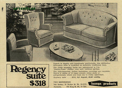 Original Vintage Australian Ad: Lounge Products (1967)