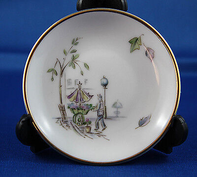 Heinrich H & Co Selb Bavaria Germany Pin/Jelly Dish -Gold Rim