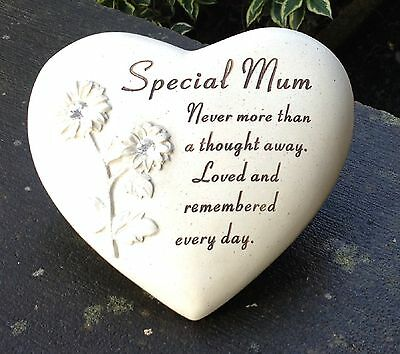 Memorial For Mum Heart Shaped Grave Funeral Ornament