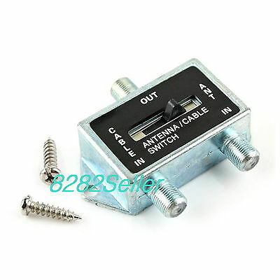 2 WAY A/B Coaxial Coax RF Switch SPLITTER Push Button Cable TV Satellite Antenna