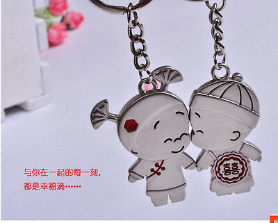 pairs Buckle gifts couples keychain ring Ancient Chinese baby boy girl lovers