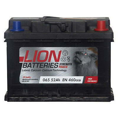 Type 065 460CCA Sealed 3 Years Warranty Lion Batteries Car Battery 12V 52Ah