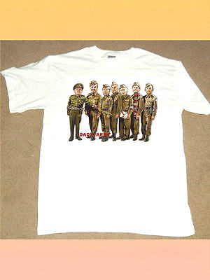 DAD'S ARMY WHITE COTTON T SHIRT Vintage Comedy Series