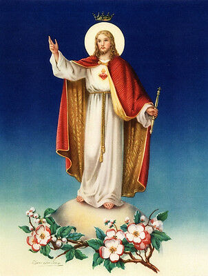"8"" x 10"" Catholic Art Print Picture SACRED HEART OF JESUS"