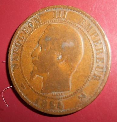 French 1854 B Coin Napoleon Iii (10 Cent) Dix Centimes **Special** (Nap20152)