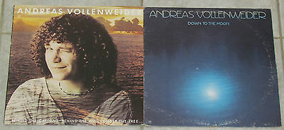ANDREAS VOLLENWEIDER 2 LP RECORD ALBUMS LOT COLLECTION Down To Moon/Behind wall
