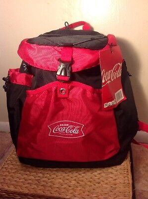 *NEW* Coca Cola COKE Insulated Red & Black Backpack 24 Can Cooler
