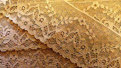 RARE C1940 ENGLISH 100% COTTON LACE (DOLL/COLLECTABLE )3 YARDS