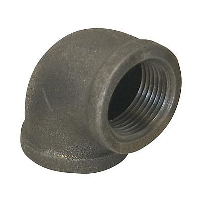 "1"" BLACK MALLEABLE IRON 90 ELBOW DEG 90° ELBOW fitting pipe npt"
