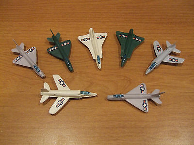 Lot Air Force Fighter Jet Bomber Plane Military Army Navy Toy Playset Plastic