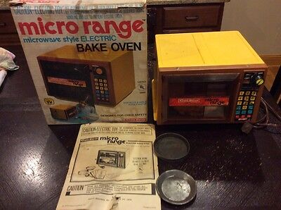 Vintage 1978, Micro Range Microwave Style Bake Oven by Coleco