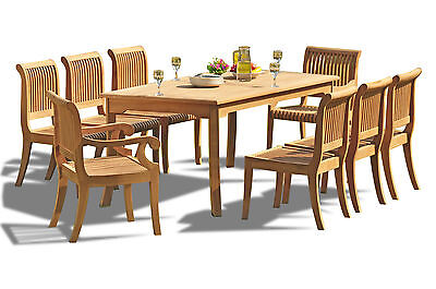 9 Pc Teak Dining Set Garden Outdoor Patio Furniture Pool Giva Arm/armless Sets