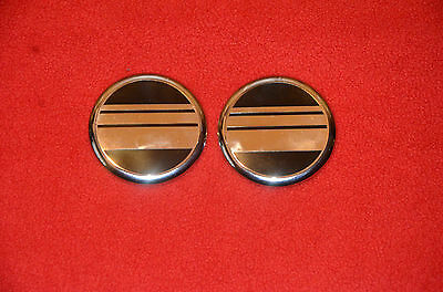2 Ford Lincoln Mercury Replacement Metal Canvas Roof Pillar Emblem