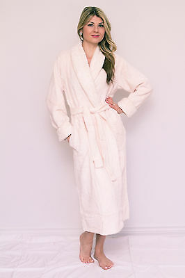 Luxury Floral Embroidered Chenille Zipper Robe Dressing Gown HOC Bathrobe