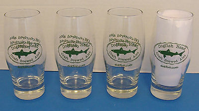 DOGFISH HEAD CRAFT BREWED ALE 16oz SET OF 4pcs BEER GLASSES NEW