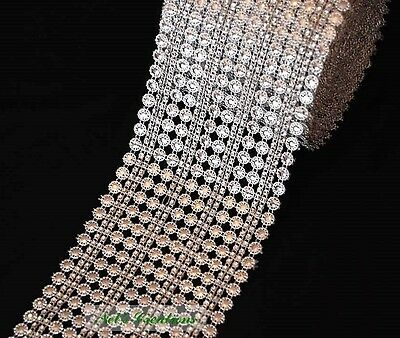 Silver and black trim with clear rhinestones ,border,embellishments 110 mm width