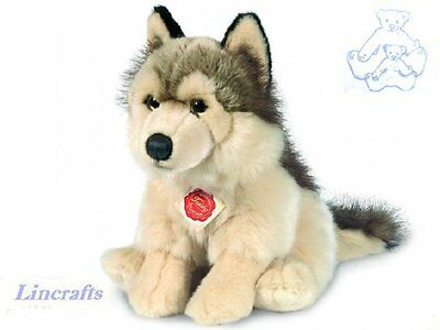 Sitting Wolf Plush Soft Toy by Teddy Hermann Collection. 92738