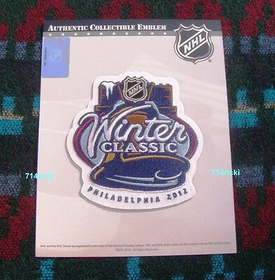 Official NHL 2012 Winter Classic Patch Philadelphia Flyers vs New York Rangers