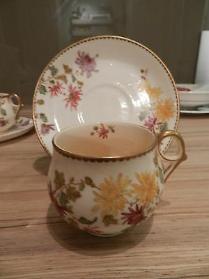 Antique Unusual Cups & Saucers - Hanley China Co