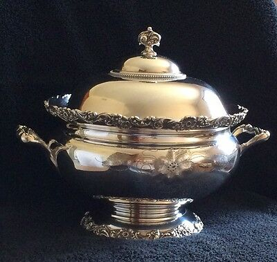 Soup Tureen 1900-1940, Poole,Mixed Mterials, Silver Plate, United States