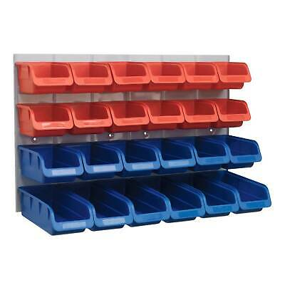 Sealey Garage Tools Storage Bin/Back Panel Combination 24 Bins-Red/Blue - TPS132