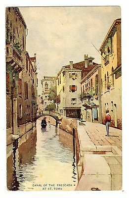 Canal of the Frescada At St Toma Venice Italy 1908 Stamp Vintage Postcard
