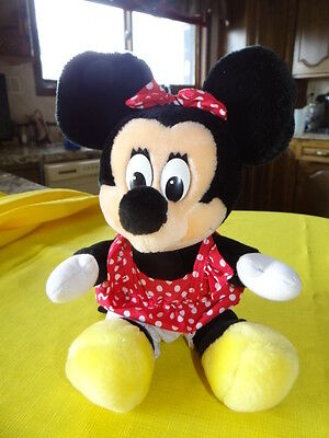 "Vintage Walt Disney World 14"" Minnie Mouse Plush Made in Korea Disneyland"