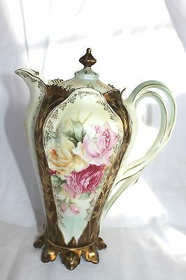 RS Prussia Gorgeous, Chocolate Pot and Roses/ Tiffany Finish