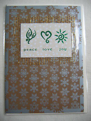 Lot of 2 Christmas Cards - Peace Love Joy, Wishing You All The Gifts Season,New