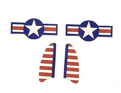 Hubley Airplane 495 decals (1) one set  Bomber plane fighter