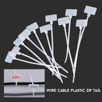 500X Marking Sign Label Zip Tie Tag Fasteners Travel Case Plastic Cable Ties