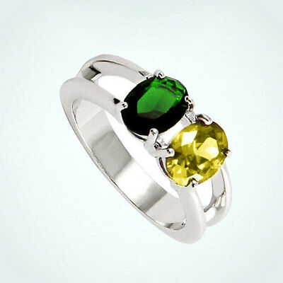 Mothers Mom Christmas Gift Oval Diamond Accent 925 Sterling Silver Womens Rings