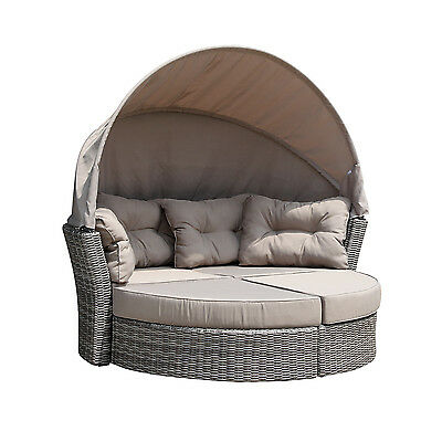 rattan sonneninsel sonnenliege gartenm bel gartenlounge. Black Bedroom Furniture Sets. Home Design Ideas