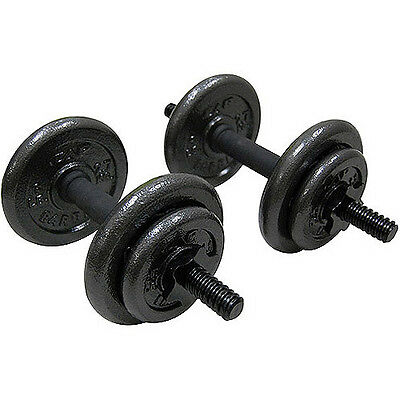 Dumbbell Set Cast Iron Weight Training Dumbbells  Home gym free weights 13kg