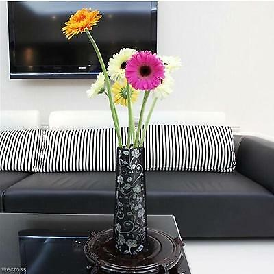 1X Plastic PVC Flower Rose Vase Environmental Protection Home Party Office Decor