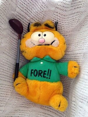 Garfield Holding Golf Club - Fore!! Ideal For Any Golfers!  By Dakin From 1980's