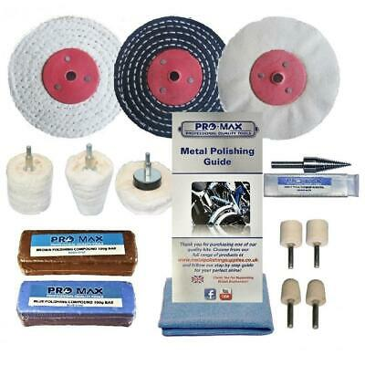 "Aluminium Alloy Brass Metal Polishing Buffing Kit Pro-Max 3"" x 1/2"""