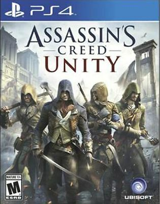 Brand New ASSASSIN'S CREED UNITY (PS4 SONY PLAYSTATION 4, 2014) Free shipping!
