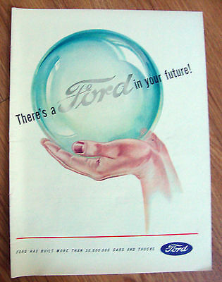 1945 Ford Ad  Ford In Your Future 1944 Texaco Dealers Gasoline Oil Ad