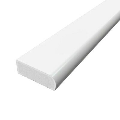 30mm uPVC Architrave - Cloaking Fillet - Plastic Window / Door Trim - 1m White