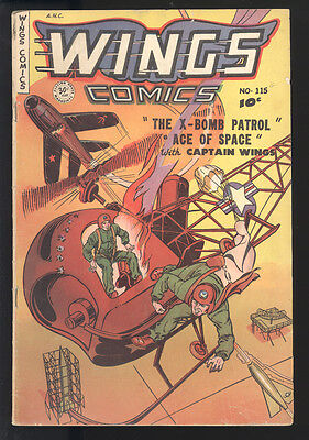 Wings Comics (1940) #115 1st Print Used In Parade Of Pleasure Captain Wings GDVG