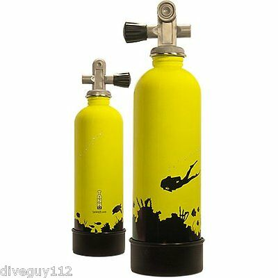 Stainless Steel Novelty Drinking Water Bottle Decorative Scuba Diving Tank D688
