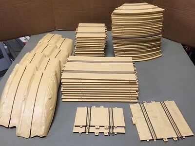 1/24 and 1/32 scale Eldon brand dune buggy slot car track set.  Lot of 64 p