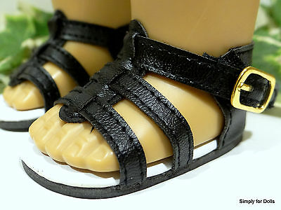 """18"""" Girl Doll Clothes BLACK Strappy SANDALS SHOES from AMERICAN SELLER"""