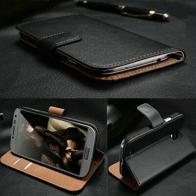 Genuine Luxury Real Leather Flip Wallet Case Cover For Samsung Galaxy S4 I9500