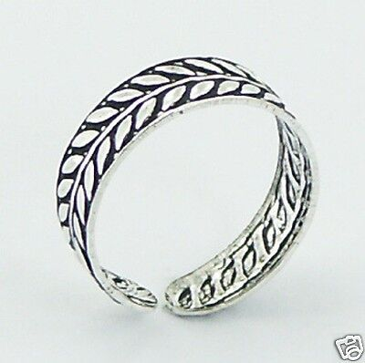 Silver Laurel Crown Toe Ring Sterling Silver 925 Best Price Adjustable Jewelry