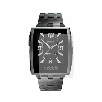 2 Pack Screen Protectors Protect Cover Guard Film For Pebble Steel